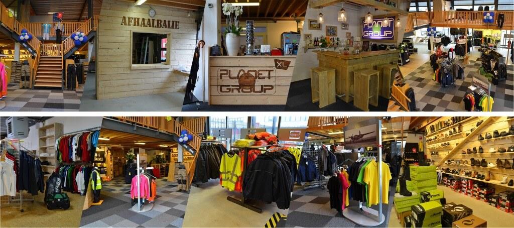 Planet Group winkel assortiment bedrijfskleding in Leiderdorp