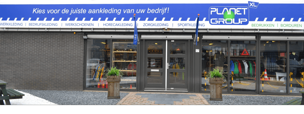 Vooraanzicht Planet Group winkel in Leiderdorp